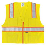 Class 2 Poly Safety Vest3Org/Silv SurvLX3