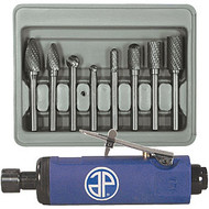 Double Cut Carbide Rotary Burr Set and Free Air Die Grinder