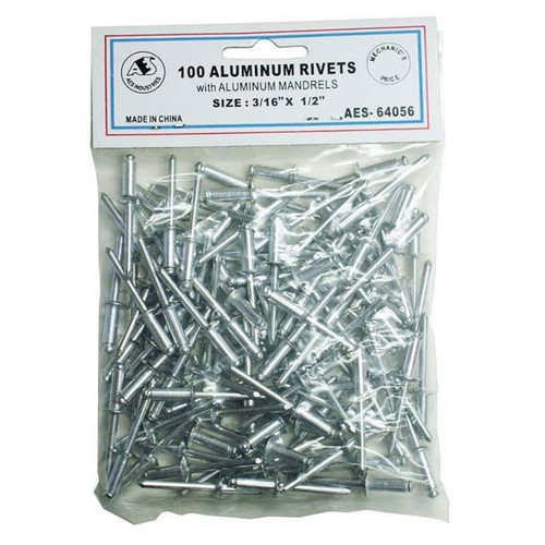 "All Aluminum Rivets - 3/16"" x 1/2"" 64056"