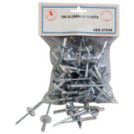 "Aluminum Rivets - 3/16"" x 3/4"" 27546 Large flange"