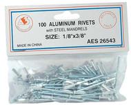 """Aluminum Rivets - 1/8"""" x 3/8"""" 26543"""