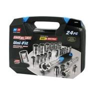Channellock 38054 Uni-Fit Socket Set, 24-Piece