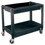 Heavy-Duty Plastic 2-Shelf Utility Cart ATD-7016