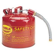 Eagle Mfg 258-U2-51-S 5 Gal 12 Inch Flex Spout 1 Inchod Safety Can