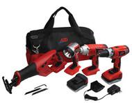 18V Cordless 4-Tool Combo Kit ATD-10528
