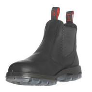 "6"" Slip-On Black Leather Boots"