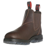 """6"""" Slip-On Puma Brown Leather Boots"""