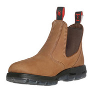 """6"""" Slip-On Crazy Horse Brown Leather Boots"""