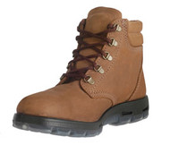 6 in Lace-Up Crazy Horse Brown Leather Boots