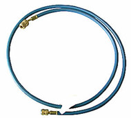 "1/4"" x 72"" (Blue) Charging Hose with Quick Seal Fittings (R12)"