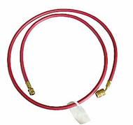 "1/4"" x 72"" (Red) Charging Hose with Quick Seal Fittings (R12)"