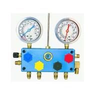 4 Way Refrigerant Gauge Set - R12 Glycerine Gauges TIF9600