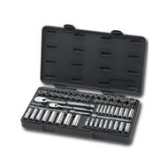 68 Piece 1/4 in  and 3/8 in  Drive SAE/Metric Super Socket Set