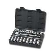 24 Piece 3/8 in  Drive Metric 6 and 12 Point Socket Set