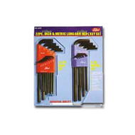 22 Piece Combination Long Hex-L and #174, Key Set in Molded Plastic Holders