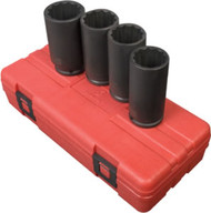"Spindle Nut Deep Impact Socket Set - 4 pc, 12 Point - 1/2"" DR. 2837"