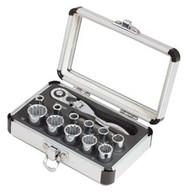 """13 Piece 1/4"""" Drive Spline Socket Set w/Mini-flex Ratchet SUN9723"""