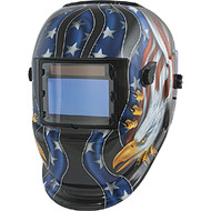 Solar Powered Auto Darkening Welding Helmet with Large Viewing Area