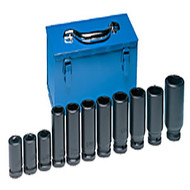 "11 Pc. 3/4"" Dr. Deep Truck Wheel Impact Socket Set - Metric GRY8133"