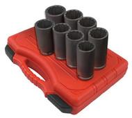8 pc. 12pt Spindle Nut Socket Set SUN2835