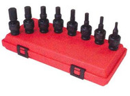 8pc 1/2 in dr. Hex Universal Impact Socket Set SAE