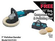 Makita 7 in Polisher/Sander Kit with Bag 9227CX3