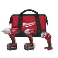 Milwaukee 2696-23 M18 18-Volt 3-Tool Combo Kit