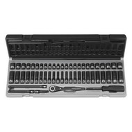 "1/4"" DR. 53 PC. FRAC. & METRIC 12 PT. DUO-SOCKET SET GRY89253CRD"