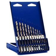 13-pc High Speed Steel Drill Bit Set with Turbo Point Tip
