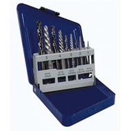 10-pc Spiral Extractor  and  Drill Bit Set in Metal Index