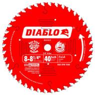 Freud Diablo 8-1/4-Inch 40 Tooth ATB Finishing Saw Blade D0840X