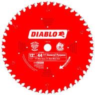 Freud Diablo 12-Inch 44 Tooth ATB General Purpose Miter Saw Blade D1244X