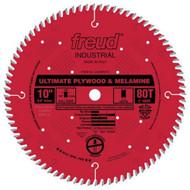 Freud 10-Inch 80 Tooth Plywood and Melamine Cutting Saw Blade LU80R010