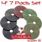 Stadea Diamond Granite Polishing Pads Set For Stone Concrete Polishing, Series Super B