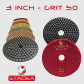 "Stadea 3"" Diamond Polishing Pads Wet For Concrete Marble Stone Polishing"