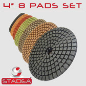 "4"" STADEA Diamond Polishing Pads Set for Granite Marble Concrete Polishing Set"