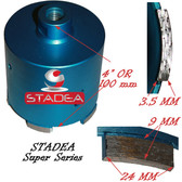 3 inch diamond concrete hole saw core drill bit for masonry granite coring by Stadea