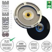 "Stadea Snail Lock Aluminium Adapter - 5/8"" 11 Brass Arbor - 4"", 5"" Rigid Backer Pad, 1 Piece - Series Super A"