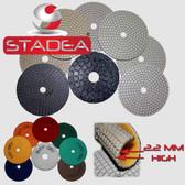 Stadea Diamond Polishing Pads for Concrete Marble Floors Edges Polishing, Series Ultra B