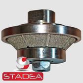 """Diamond Profile Wheel Router Bit bevel bullnose 10 MM 3/16"""" E10"""