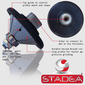 "STADEA Diamond Profile Wheel / Profile Grinding Wheel 45 degree / Bevel 20 MM 3/4"" high for Grinder Polisher Tile Granite marble Concrete Shaping/Diamond Profiling"