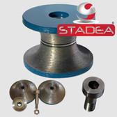STADEA Stone Diamond Router Bits Full Bullnose 1 1/2 inch Edge Profile bit Grit 150 For Granite Marble Concrete Profiling V40