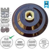 "Stadea Rigid Velcro Hook and Loop Backing Pad - 4 Inch -  Arbor 5/8"" 11 - Series Standard R"
