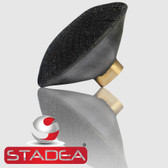 "4"" Convex Rubber Velcro Hook and Loop Backing Pad by STADEA"