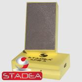Stadea Diamond Hand Pads for Glass Concrete Granite Marble Stone Polishing, Grit 400 Series Super A