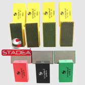 Stadea Diamond Hand Pads for Glass Stone Marble Concrete Polishing Sanding Blocks, 7 Pcs Set