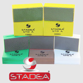 Stadea Diamond Sanding Block Hand Pads for Concrete Glass Stone Marble Polishing, 5 Pcs Set