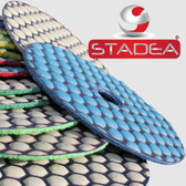 Stadea 4 Inch Granite Polishing Pads set 5 Step Pads For Granite Concrete Stone Glass Polishing