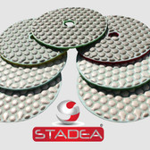 "4"" STADEA Wet/Dry Diamond Polishing Pads for Granite Marble Concrete Stone Travertine polishing - Any Grit"