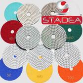 Stadea 5 Inch Diamond Polishing Pads Wet For Concrete Terrazzo Marble Glass Travertine Polishing, Series Standard J